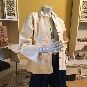 Vintage Bibs designer ultra suede ivory jacket.